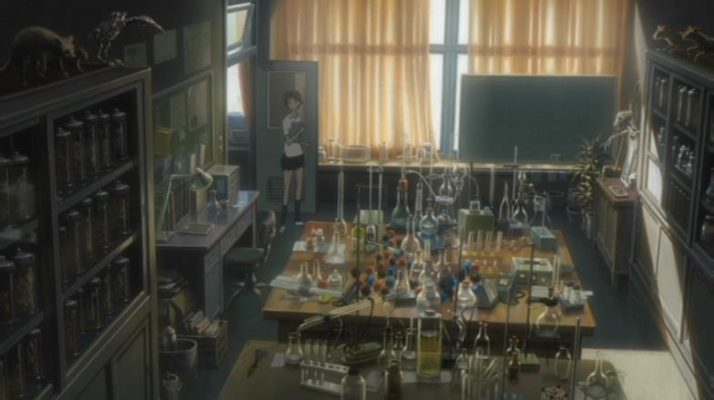The Girl Who Leapt Through Time - Science lab