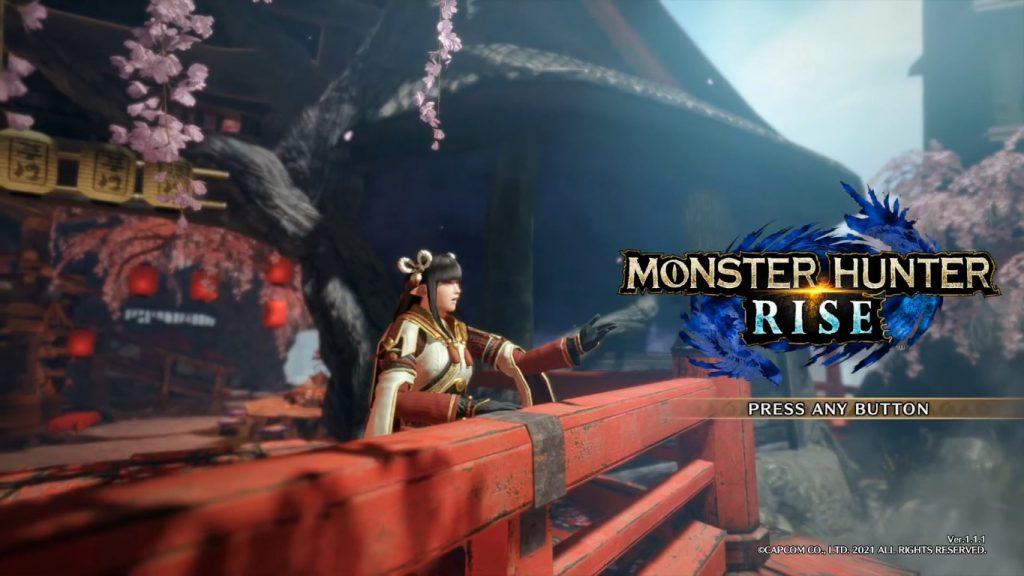 Monster Hunter Rise - Title screen